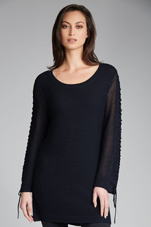 Capture Rib Jumper With Eyelet Sleeve