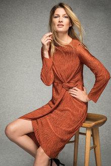 Grace Hill Plisse Wrap Dress