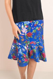 Capture Pencil Skirt with Ruffle Hem