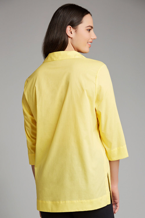 Plus Size - Sara Cotton Voile Pintuck Shirt