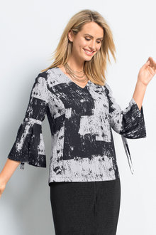 Capture Bell Sleeve Top - 179078