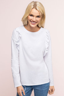 Emerge Ruffle Shoulder Tee - 179082