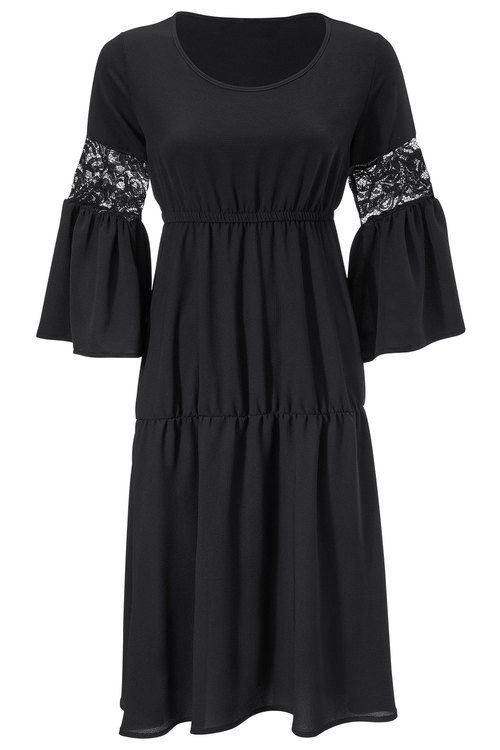 Heine Lace Detail A-Line Dress