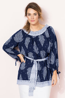 Plus Size - Sara Off Shoulder Tunic