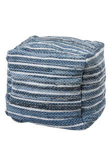Ezra Denim Pouf