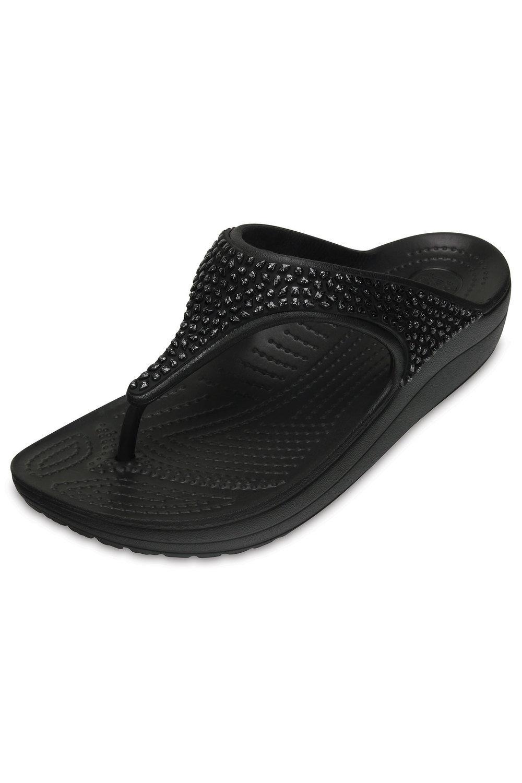 729953fd8d5a Crocs Sloane Embellished Flip Online