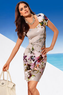 Heine Floral Fitted Dress