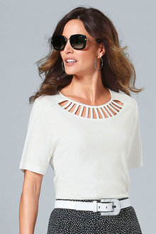 Capture European Neck Detail Top