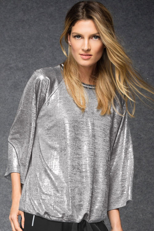 Grace Hill Metallic Sweatshirt