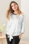 Grace Hill Metallic Sweatshirt