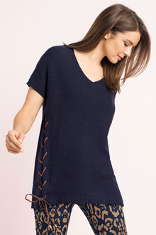 Capture Lace up Knit