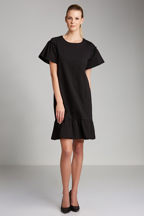 Emerge Gather Sleeve Swing Dress
