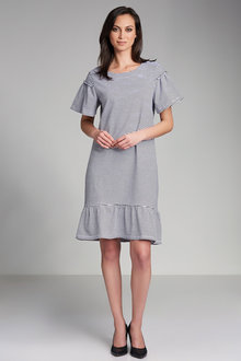 Emerge Gather Sleeve Swing Dress - 179236
