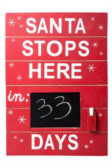 Santa Stops Here Sign - 179241