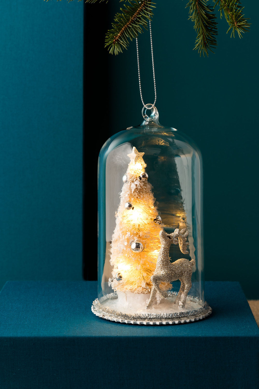 Light Up Christmas Tree Dome Ornament Online | Shop EziBuy