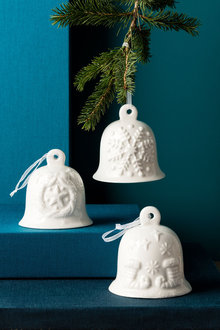 Ceramic Bell Ornaments Set of 3