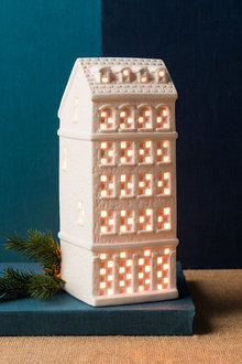Ceramic Tealight Townhouse