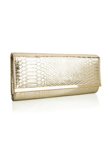 Together Snakeskin Clutch Bag - 179251