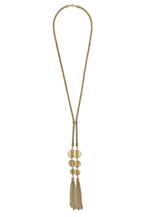 Together Drop Tassel Necklace