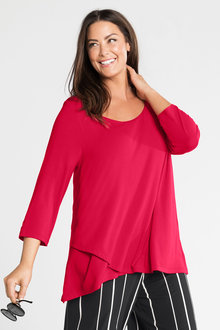 Plus Size - Sara Crossover Top