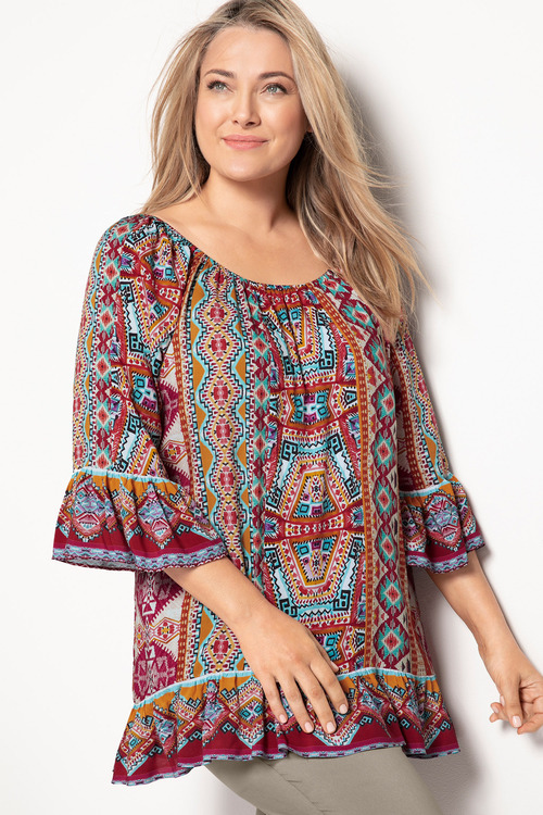 Plus Size - Sara Bardot Top