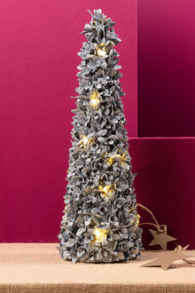 Light Up Glitter Cone Tree