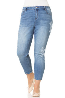 Plus Size - Sara Applique Jean