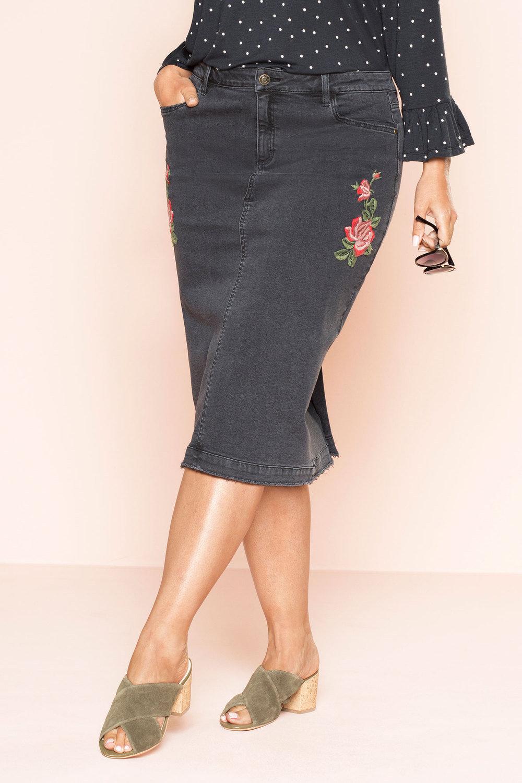 73376a5a2ebd7 Plus Size - Sara Denim Skirt