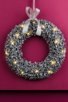 Light Up Glitter Wreath
