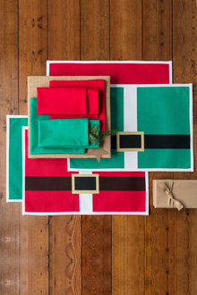 Santa Placemat and Napkin Set