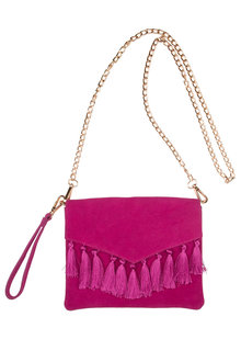 Suede Tassel Cross Body Bag