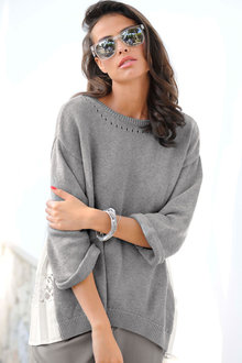 Euro Edit Pleat Detail Pullover