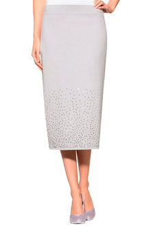 Euro Edit Sequin Detail Knit Skirt