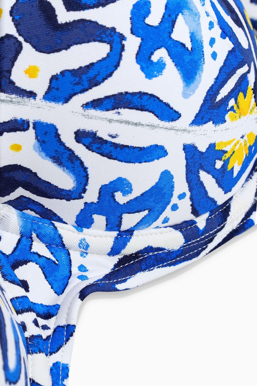 Next Tile Print Shape Enhancing Bikini Top Online | Shop EziBuy