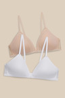 Next Light Pad Non Wire Teen Bras Two Pack