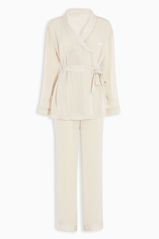 3ae537f3405d3 Next Bridal Satin Wrap Pyjamas Online