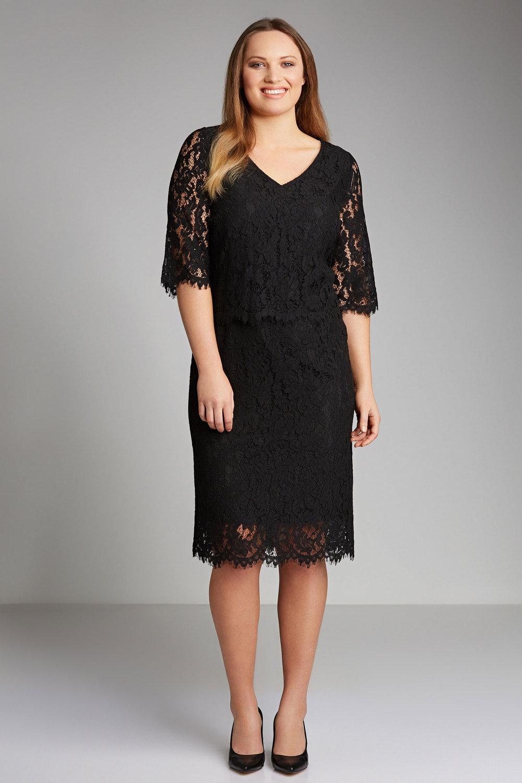c347d6ebc34 Sara Lace Overlay Dress