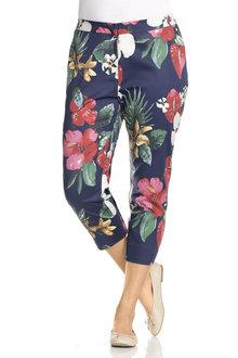 Plus Size - Sara Sateen Crop Pant