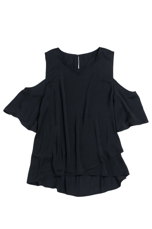 Capture Cross Front Cold Shoulder Top