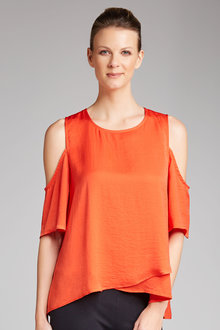Capture Cross Front Cold Shoulder Top - 180358