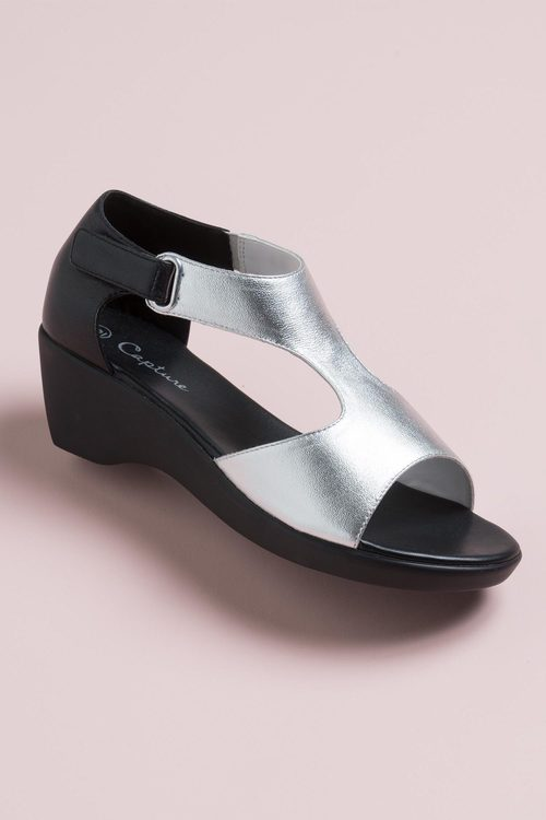 Capture Wide Fit Flossy Wedge Sandal