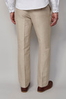 Next Signature Irish Linen Cotton Trousers - Tailored Fit