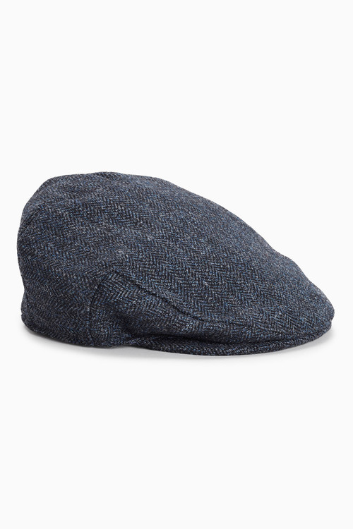 Next London Herringbone Flat Cap