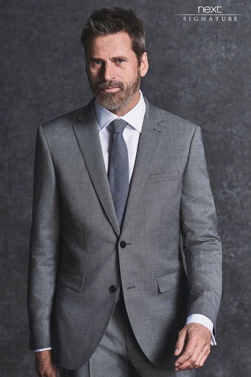 Next Signature Italian Wool Suit: Tailored Fit Jacket
