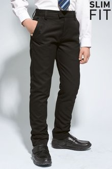 Next Formal Slim Fit Leg Trousers (3-16yrs) - 180811