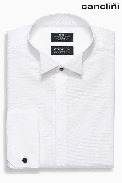Next Regular Fit Double Cuff Signature Dress Shirt