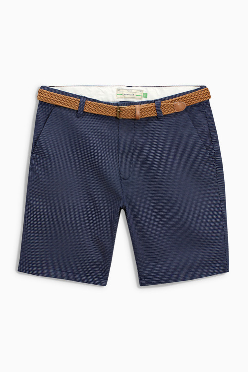 Next Belted Printed Chinos