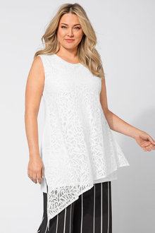 Plus Size - Sara Lace Overlay Tunic