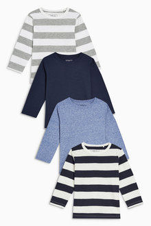Next Long Sleeve T-Shirts Four Pack (3mths-6yrs)