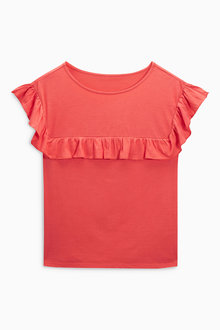 Next Ruffle Yoke T-Shirt
